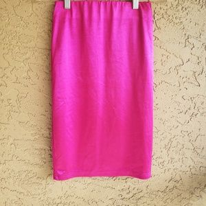 Forever 21 Hot Pink Pencil Skirt, Small